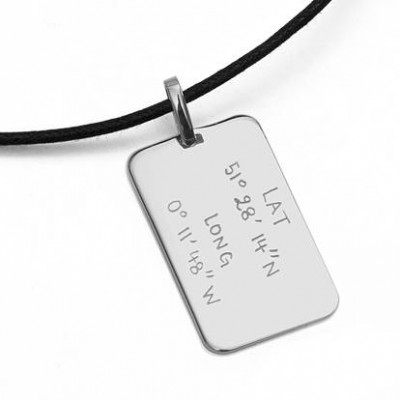Mens Personalised Dog Tag Necklace - Crafted By Birthstone Design™
