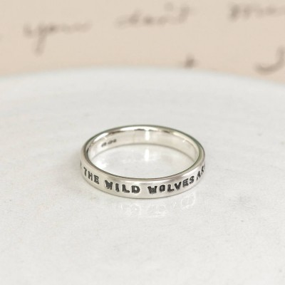Personalised Silver Message Ring - Crafted By Birthstone Design™