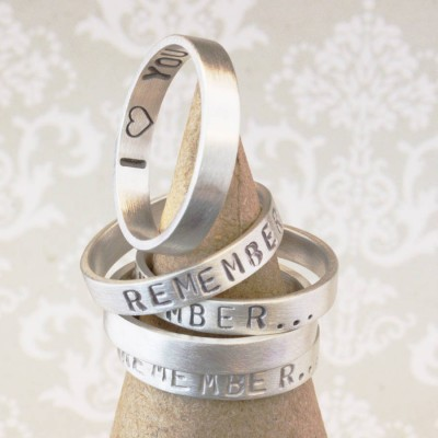 Personalised Remember… Your Story Ring - Crafted By Birthstone Design™