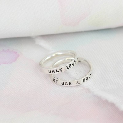 Personalised Script Ring For Couples - Crafted By Birthstone Design™