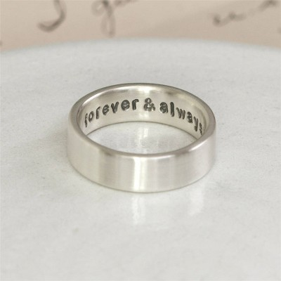 Personalised Silver Hidden Message Ring - Crafted By Birthstone Design™