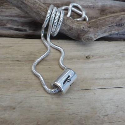 Personalised Silver Rune Thong Necklace - Crafted By Birthstone Design™