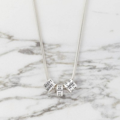 Personalised Womens Silver Storyteller Necklace - Crafted By Birthstone Design™