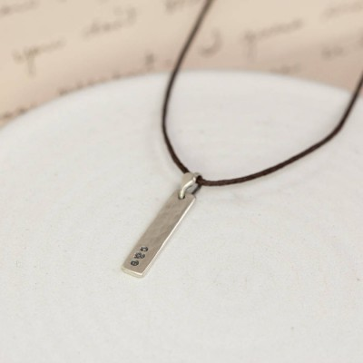 Personalised Sterling Silver Tag Necklace - Crafted By Birthstone Design™