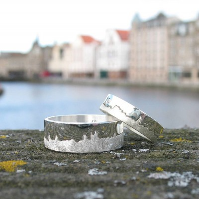 Personalised City Skyline Ring - Crafted By Birthstone Design™