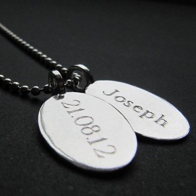 Silver Tag amp Ball Chain Necklace - Crafted By Birthstone Design™