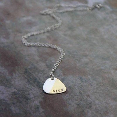 Personalised Plectrum Necklace - Crafted By Birthstone Design™