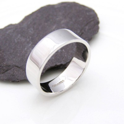 Personalised 18ct White Gold Wedding Ring - Crafted By Birthstone Design™