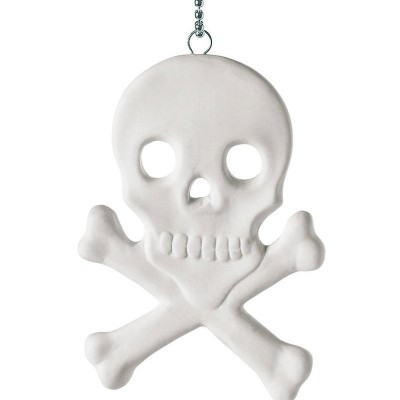 Memorabilia Porcelain Skull And Crossbones Charm - Crafted By Birthstone Design™
