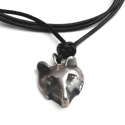 Solid Silver Fox Head Necklace - Crafted By Birthstone Design™