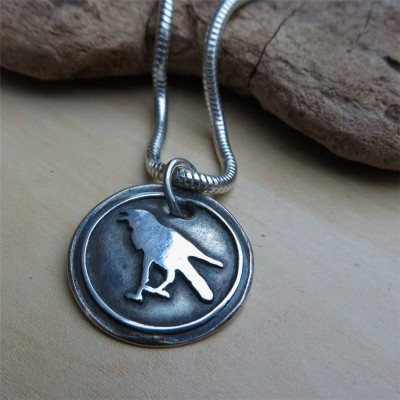 Raven Silver Pendant - Crafted By Birthstone Design™