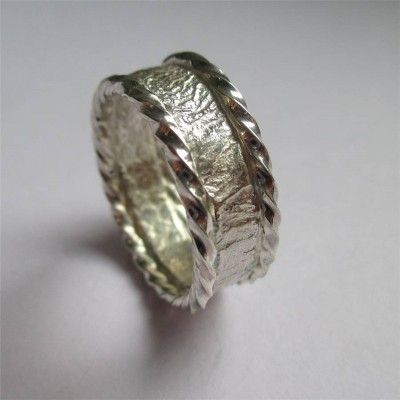 Rocky Outcrop Twist Ring - Crafted By Birthstone Design™