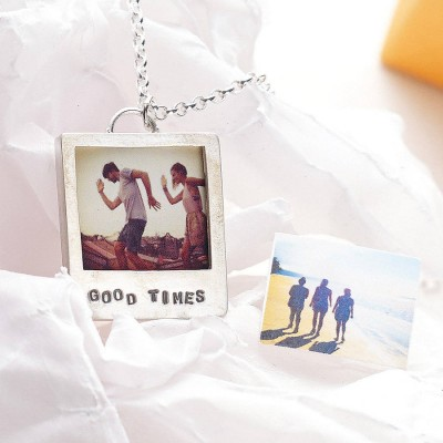 Personalised Silver Polaroid Necklace - Crafted By Birthstone Design™