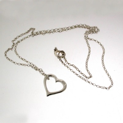Valentines Silver Heart Necklace - Crafted By Birthstone Design™