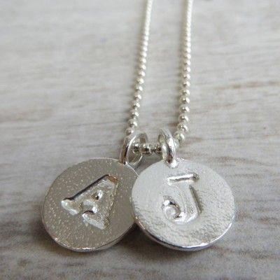 Silver Letter Charm And Ball Chain Necklace - Crafted By Birthstone Design™