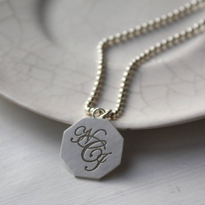 Silver Monogram Necklace - Crafted By Birthstone Design™
