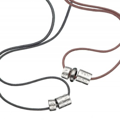 Mens Personalised Life Bead Necklace - Crafted By Birthstone Design™