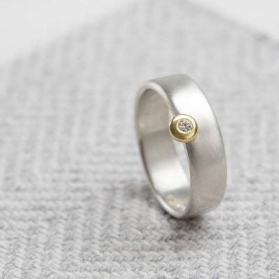 Slim Offset Ring - Crafted By Birthstone Design™