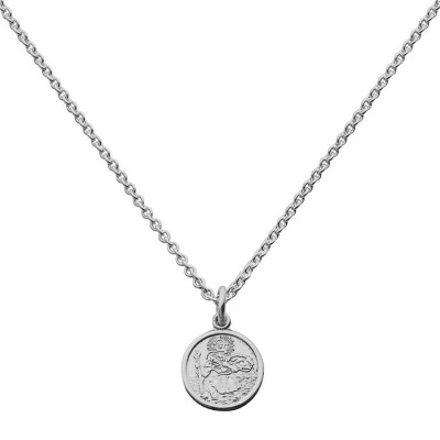St Christopher Pendant Small Round - Crafted By Birthstone Design™