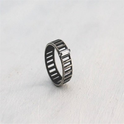 Sterling Silver Inclusions Ring - Crafted By Birthstone Design™