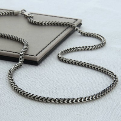 Sterling Silver Mens Snake Chain Necklace - Crafted By Birthstone Design™