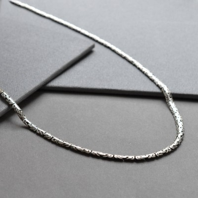 Sterling Silver Oval Borobudur Necklace - Crafted By Birthstone Design™