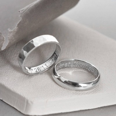 Sterling Silver Secret Message Ring - Crafted By Birthstone Design™