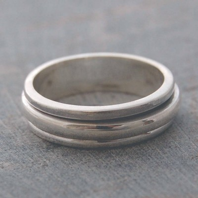 Sterling Silver Spin Ring - Crafted By Birthstone Design™