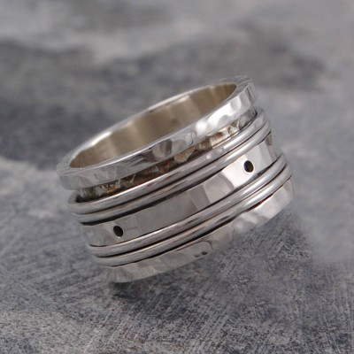 Sterling Silver Spinning Band Ring - Crafted By Birthstone Design™