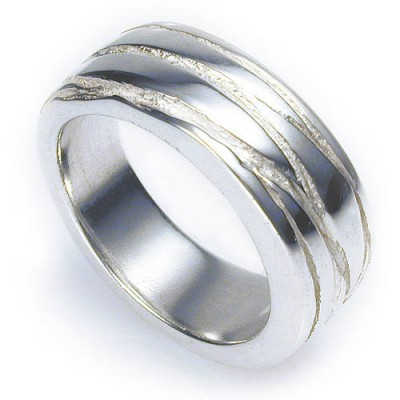 Silver Texture Bound Ring - Crafted By Birthstone Design™