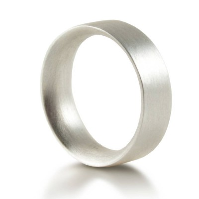 Mens Sterling Silver Wedding Ring Comfort Fit Matt - Crafted By Birthstone Design™