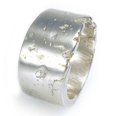 Wide Silver Concrete Ring - Crafted By Birthstone Design™
