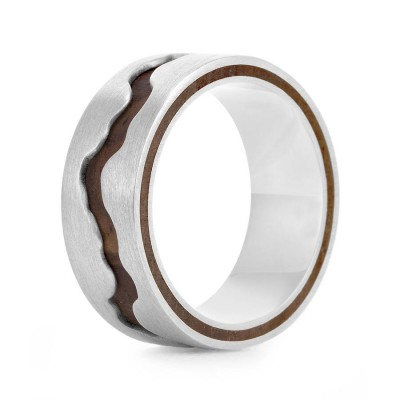 Wood Ring Livlina - Crafted By Birthstone Design™
